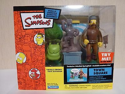 Simpsons World of Springfield WOS Town Square with Jebediah Springfiled Playset