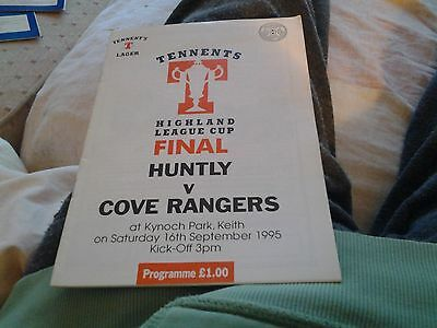 huntly v cove rangers 1995 Highland league cup final at keith