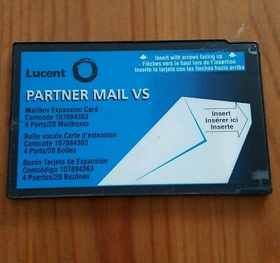 Lucent Avaya Partner VS Mail Release 4.0 & 4.1 107884371 4 Port x 40 Mailbox UG