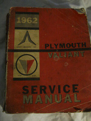 Classic Chrysler-Plymouth/valiant Car Workshop Manual.1962.genuine.81-570-2056.