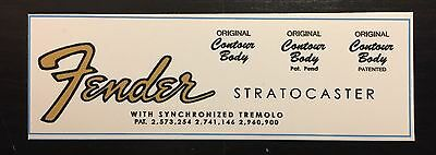 60's style Fender Stratocaster Waterslide Decal (updated)