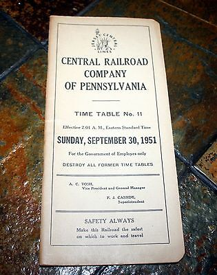 Central Railroad Of New Jersey Employee Time Table: No. 11, Sept 30, 1951