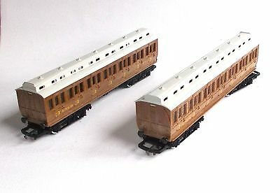 HORNBY CLERESTORY TEAK COACHES Ref No R332 - Qty 2