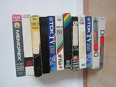 12 Blank Vhs Video Tapes
