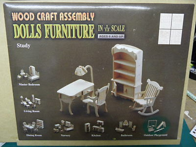 Dolls House Furniture Kit - STUDY - 12th scale