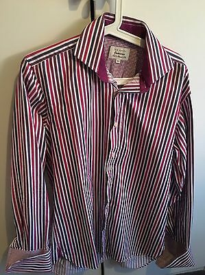 Ted Baker Endurance Shirt. 15.5 Inch Collar. Striped. Worn Once