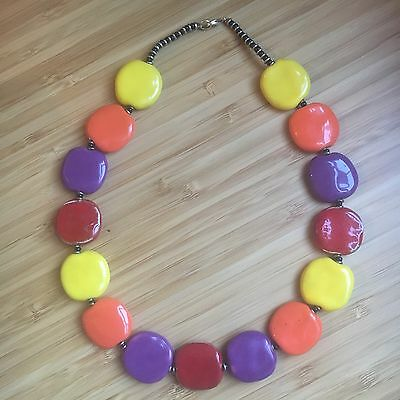 Kenyan Traditional Colourful Clay Bead Necklace