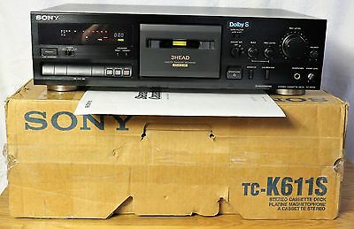 Sony TC-K611S  3-headstero cassete deck - boxed / serviced