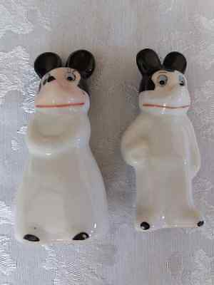 Mickey and Minnie Mouse Figures Possible 1930s Rare Items
