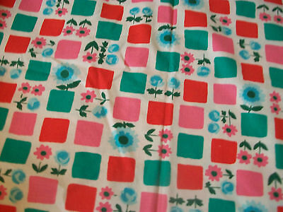 "Vintage 1960s fabric remnant for sewing project 34"" long"
