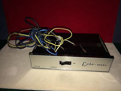 Old 60's Echo-Mate Aftermarket Automotive Reverberator Sn:119855 Made In Japan