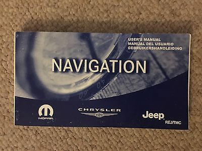 Jeep Chrysler Satellite Navigation Owners Manual User Guide