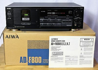 Aiwa AD-F800  3-head stereo cassette deck - boxed / serviced