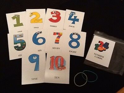 Educational Cards (Number Cards 1-10) / Flash Cards / Early Learning