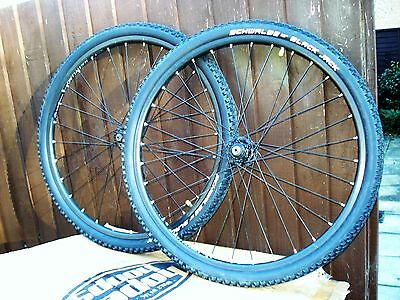 """Specialized 26"""" Disc Brake Wheelset With New Schwalbe Tyres"""
