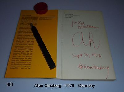Allen Ginsberg - Autogramm - signed - Autograph - signed - Germany 1976
