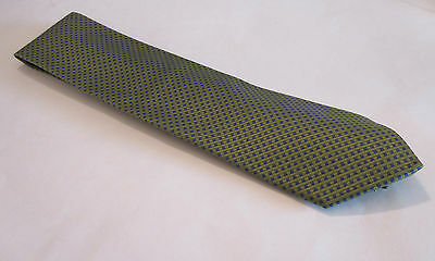 New BROOKS BROTHERS MAKERS Lime Green & Royal Blue Men's Silk Necktie Tie NWT
