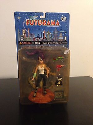 Leela with Nibbler Futurama Sealed 2000 Moore Action Collectibles MOSC