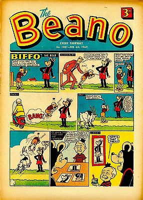 Beano Comic February 4Th 1967. Great 50Th Birthday Present!