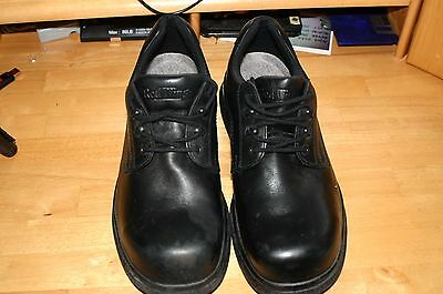 RED WING Men's Black Leather Steel Toe Shoes Size 12 3E