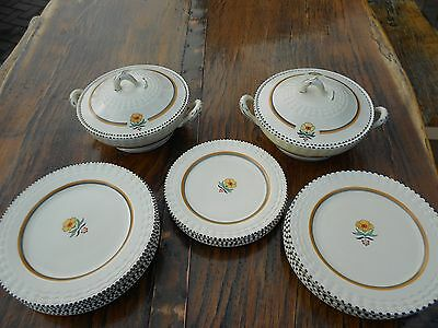 Adams Royal Ivory Titianware Vintage 19 Piece Dinner Service, Plates and Tureens