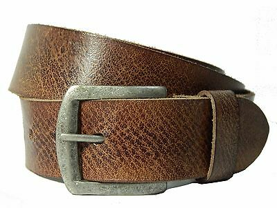 Real leather belt genuine full grain wide casual strap buckle jeans trousers