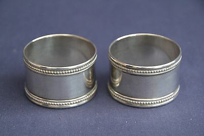 Cristofle Silver Plated Napkin Rings
