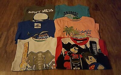 6 x Various Boys T Shirt - Age 4-5, 5-6 & 6-7 years