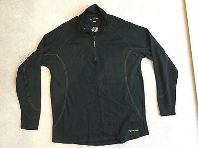 Men's M&S Thermal Sweater Mid Layer Size XL Black