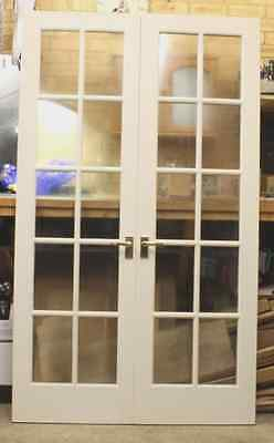Indoor French Double Doors, Wooden with Glass