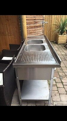 Catering Stainless Steel Double Drains Sink Unit
