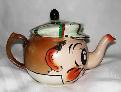 VINTAGE WADE POTTERY TEAPOT- ANDY CAPP Hand Painted Scottish Design- RARE