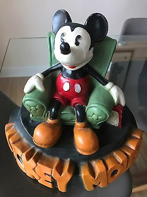 Disney Mickey Mouse Statue Lazing In Armchair