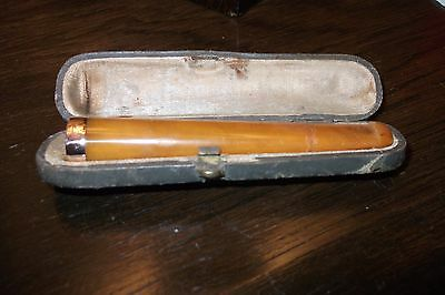 Antique Amber Cigarette Holder With 9Ct Gold