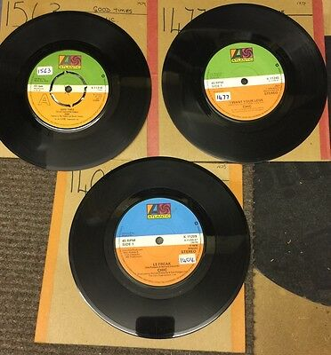"CHIC-Le Freak-Good Times-I Want Your Love-3 x 7"" Vinyl Records 45rpm"