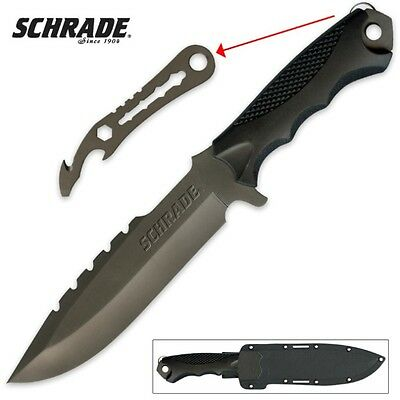 Schrade SCHF27 Extreme Survival Full Tang Drop Point Fixed Blade Knife & Tool TP
