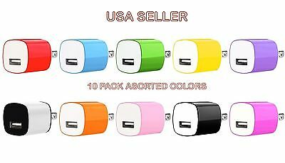 10x 1A USB Power Adapter AC Home Wall Charger US Plug FOR iPhone 5 5S 6 Samsung