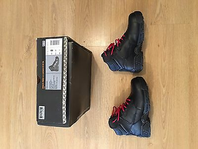 Magnum Stealth Force 6.0 Steel Toe Safety Boots Uk Size 7 Black Leather