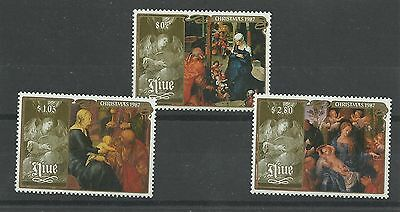 NIUE 1987  Christmas - Religious  Paintings by Durer    umm / mnh set