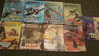 9 x commando war stories and picture comic books