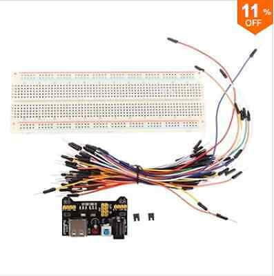 MB-102 MB102 Solderless Breadboard + Power Supply + Jumper Cable Kits For Arduin