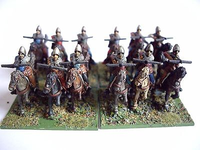 12 15mm medieval mounted crossbow men by Museum for DBMM FOG