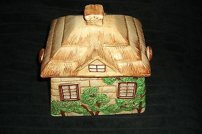 Antique Country Cottage Biscuit Barrel