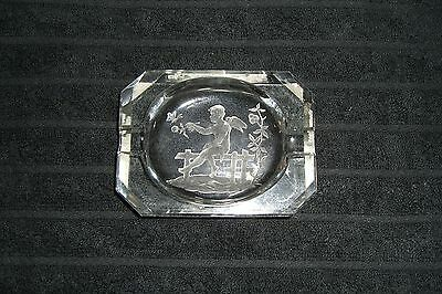 Art Deco Cut Glass Cherub Ashtray
