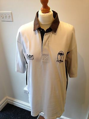 """Fiji Short Sleeve Rugby Shirt By """"cotton Traders"""" Size Large"""
