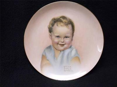 "Bessie Pease Cutmann Bundles of Joy 1987 Hamilton Plate ""Billy"" MIB COA"