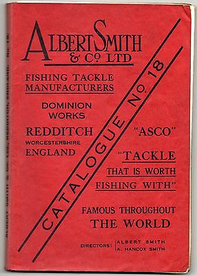 Vintage Fishing Tackle Catalogue, Albert Smith No.18, Redditch,1937.