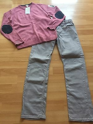 BNWT Boys Jumper From VERTBAUDET  & Pair Of Jeans  From H&M Age 11-12 Years