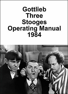 Gottlieb Three Stooges Manual 1984 (Game GV-113)