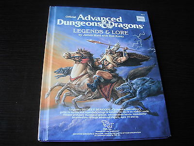 Advanced Dungeons & Dragons (AD&D) Legend & Lore 1984 edition